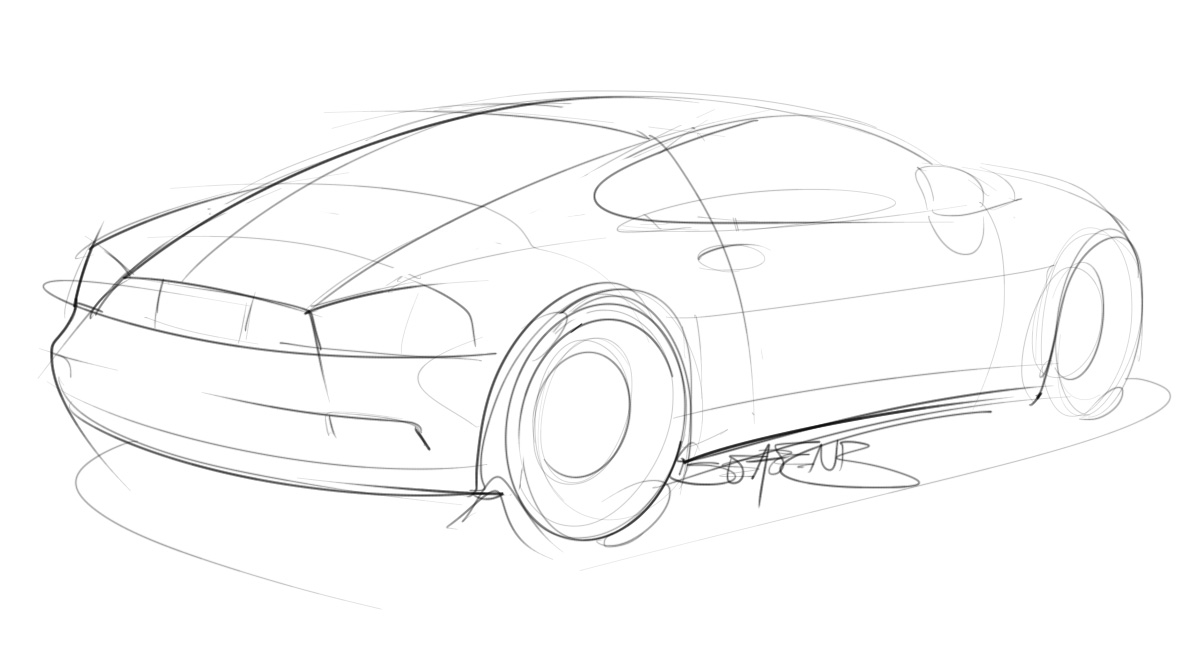 Trying to do at least one car sketch a day – ScottDesigner