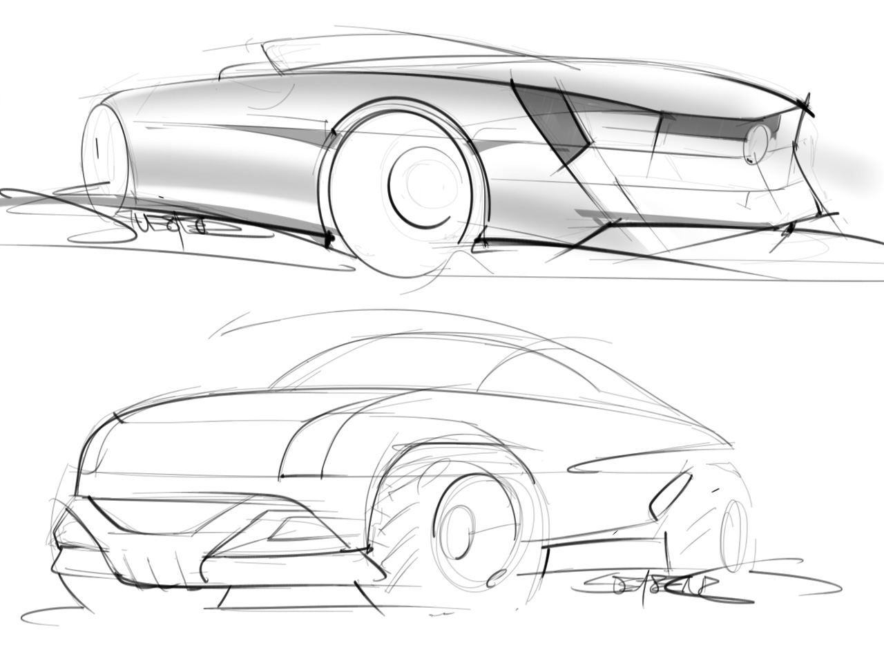 Still drawing at least one car sketch a day – ScottDesigner