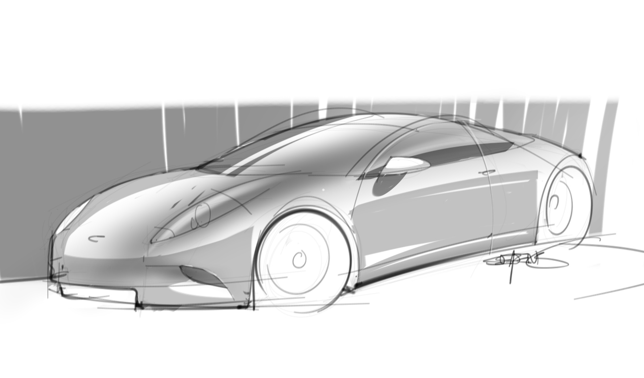 My First Car Sketch With The Wacom Intuos 5 Drawing Tablet U2013 ScottDesigner