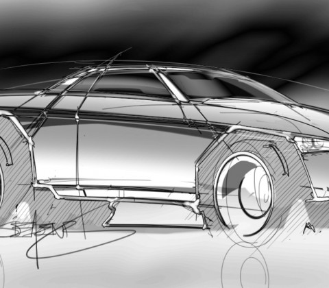 Loose sketch of a truck – ScottDesigner