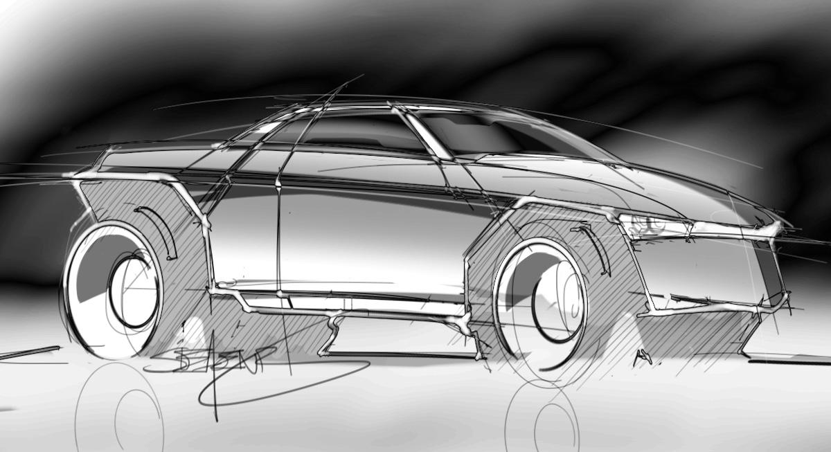 Loose sketch of a truck – ScottDesigner