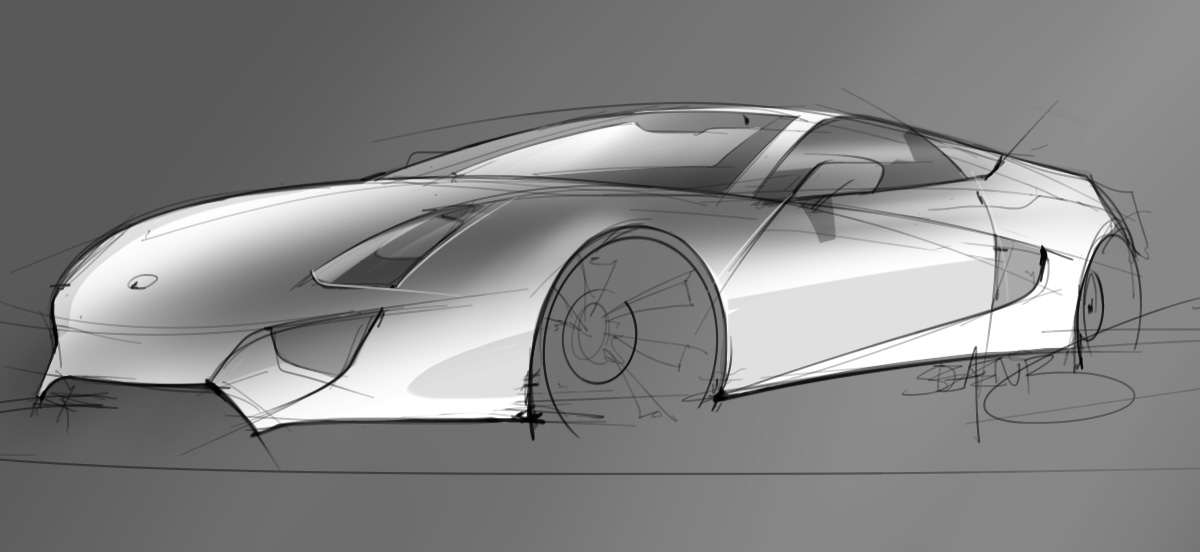 coupe sketch