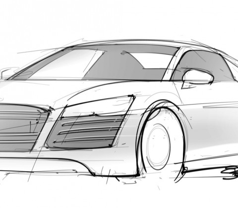 Audi ScottDesigner - Audi car drawing