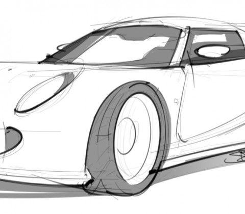 Louts Exige drawing