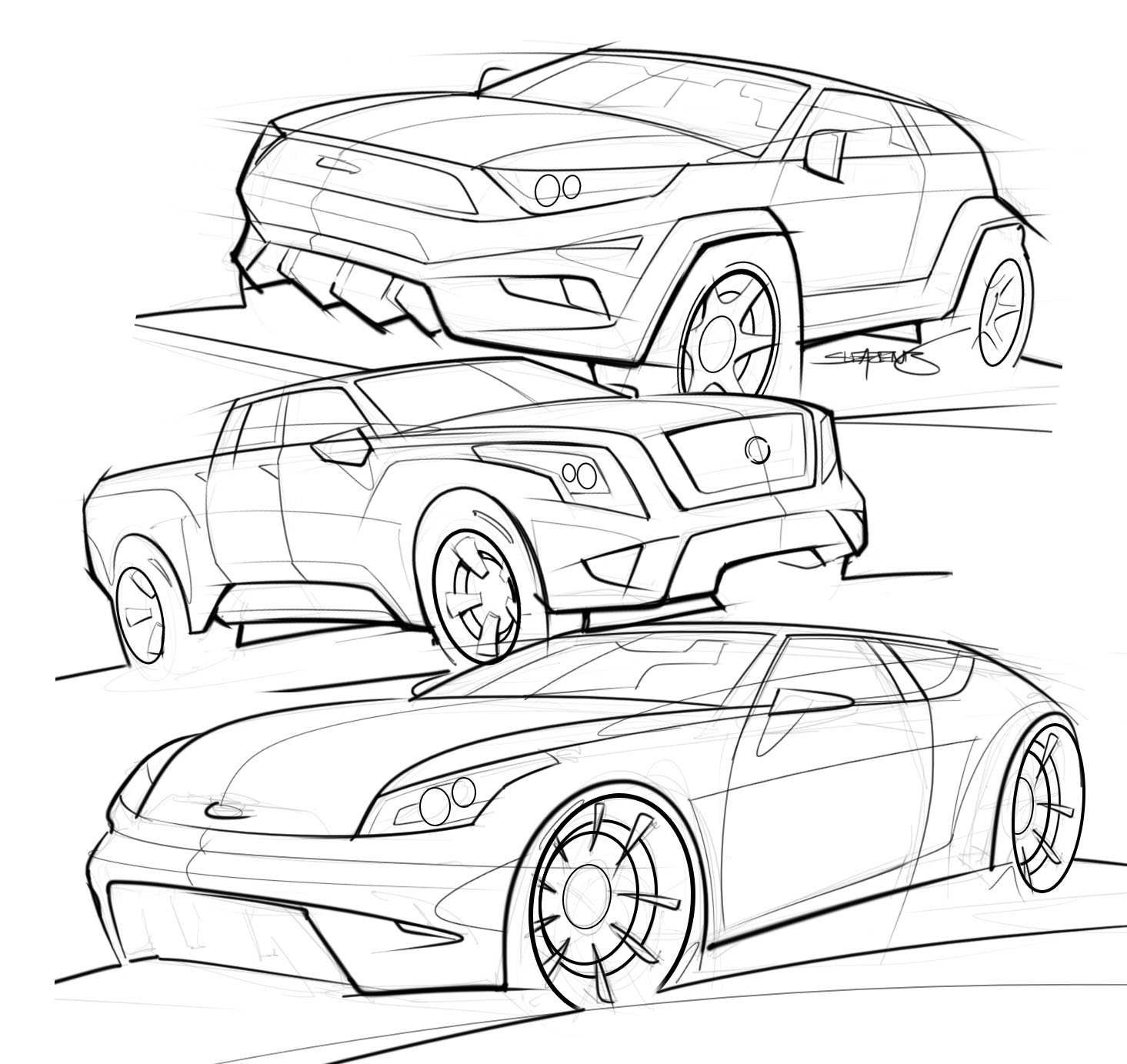 list of synonyms and antonyms of the word  suv drawings