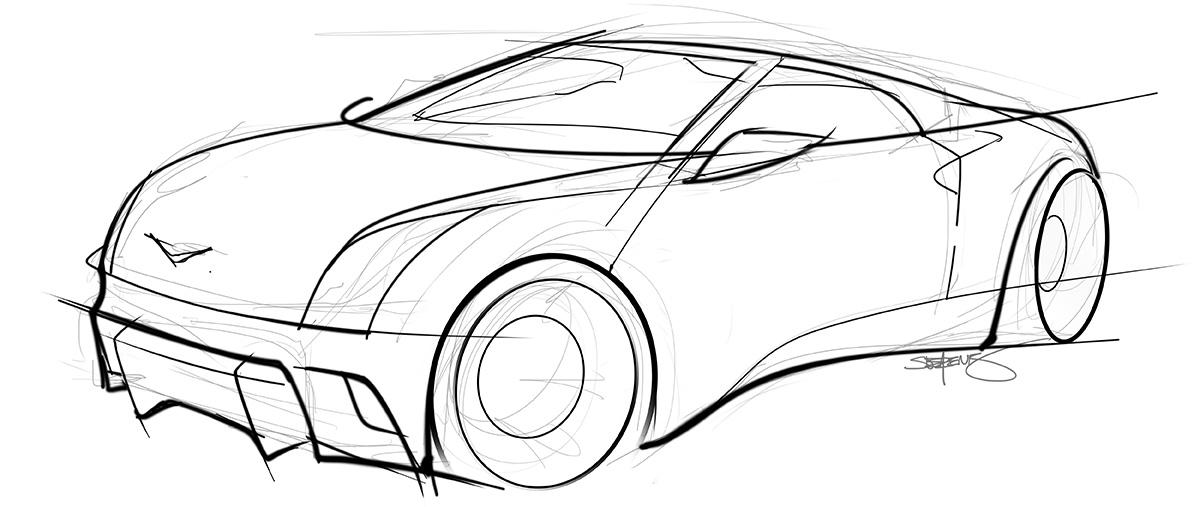 350z concept sketch