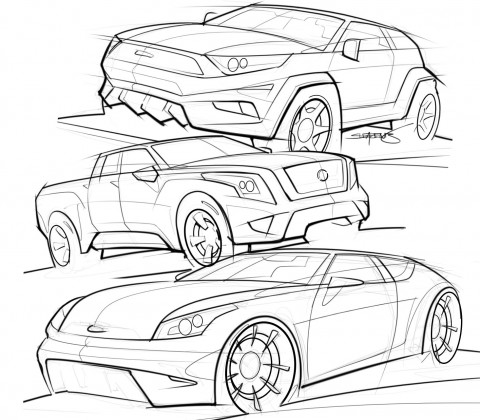 Truck And Suv Sketches